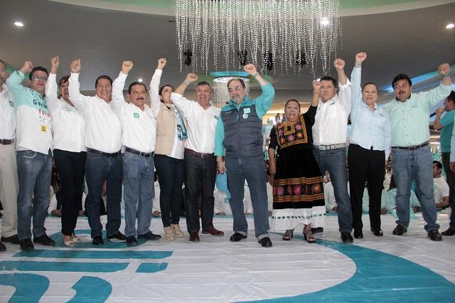 Con tibieza, aliancistas arrancan su campaña en Puebla