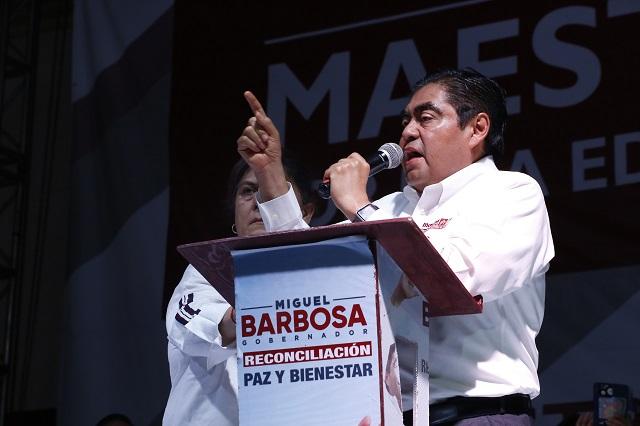 Dignidad e inversión a municipios de la zona Audi, ofrece Barbosa