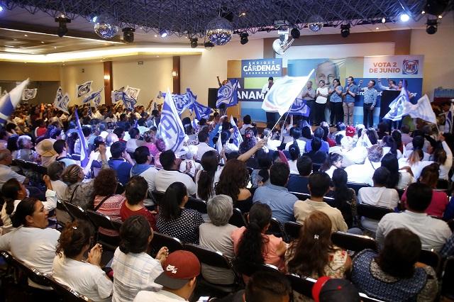 Simpatizantes de Cárdenas acusan elección de Estado en Puebla