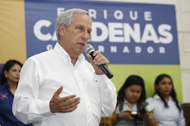 Acusa Cárdenas traición del PAN, PRD y MC hacia su candidatura