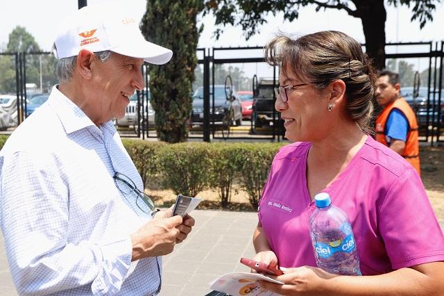 Niega Cárdenas nerviosismo en debate y recta final de campaña
