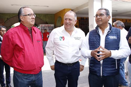 Jiménez Merino va a la alza y Barbosa a la baja, dice el PRI