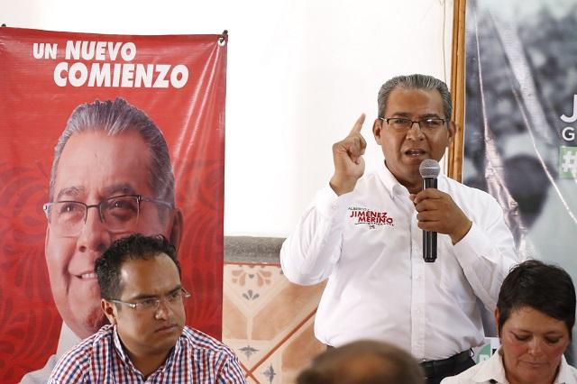 Jiménez Merino confía que pleitos Morena-PAN beneficien al PRI