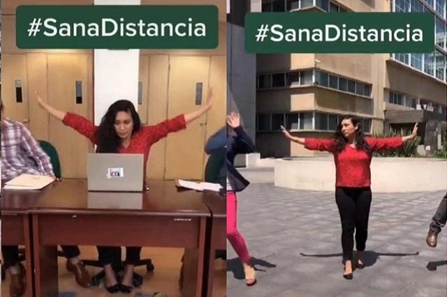 Con original Tik Tok, IMSS lanza campaña de 'Sana distancia'