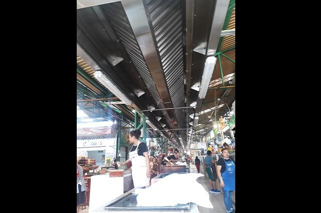 Colocan extractor de humo en mercado de Atlixco