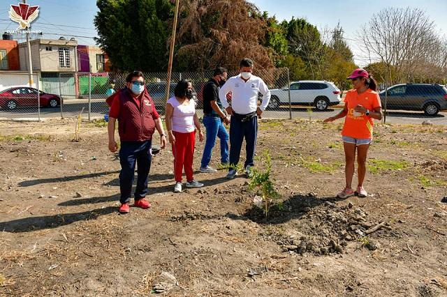Lupita Daniel rescata campos deportivos Xel-Hua en Reserva Territorial Quetzalcóatl
