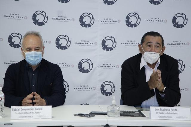 Pide Canacintra apoyo fiscal para las empresas de Puebla