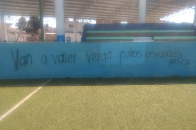 Canchas deportivas generan disputa en Atlixco