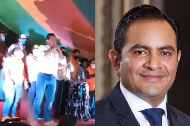 Candidato de Chalchicomula le regala $20 mil a Iglesia en cierre de campaña