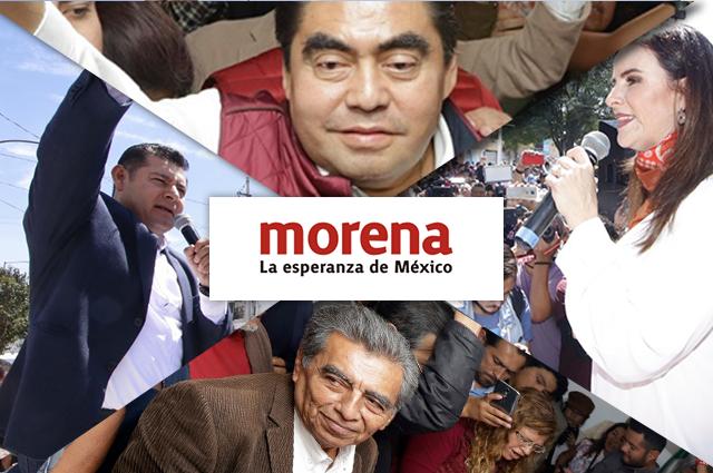 Barbosa, Armenta, Nancy y 4 más van por candidatura de Morena