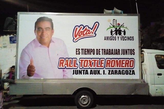 Balean y amenazan a Raúl Toxtle, candidato en Ignacio Zaragoza
