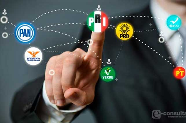 PAN y PRD adelantan candidatos; Morena, PRI y MC se rezagan