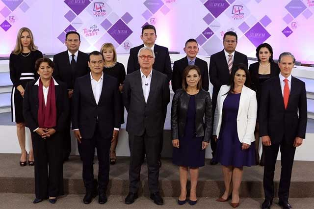 Candidatos en el Edomex se acusan de corruptos durante el debate