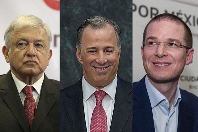 Aprueba el INE las candidaturas de Meade, AMLO y Ricardo Anaya