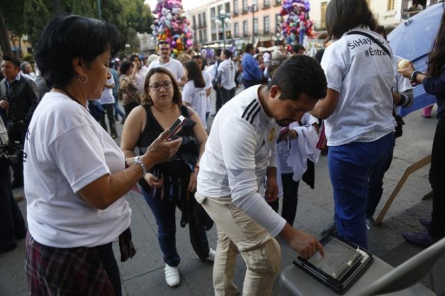 Desde diciembre, recolección de firmas para candidaturas en Puebla