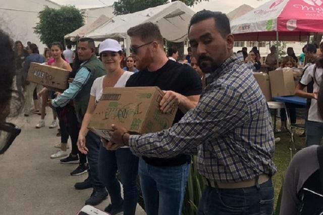 El Canelo dona un millón de dólares en víveres para damnificados en México