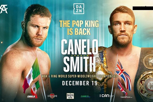 19 de diciembre, la fecha oficial para ver a 'Canelo' vs Callum Smith