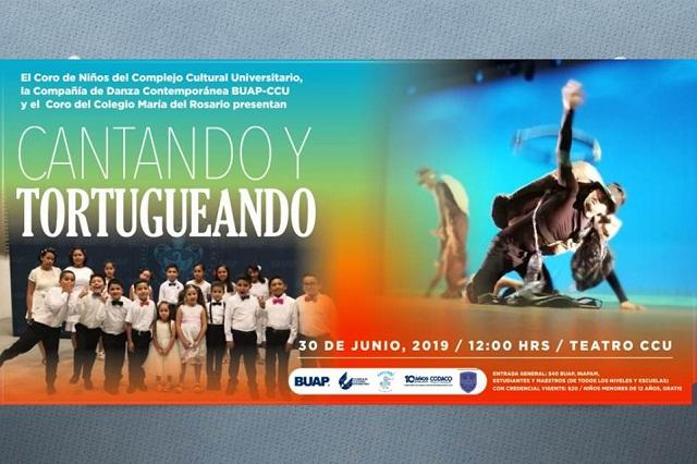 """Compañías artísticas del CCU presentan """"Cantando y Tortugueando"""" domingo 30 de junio"""