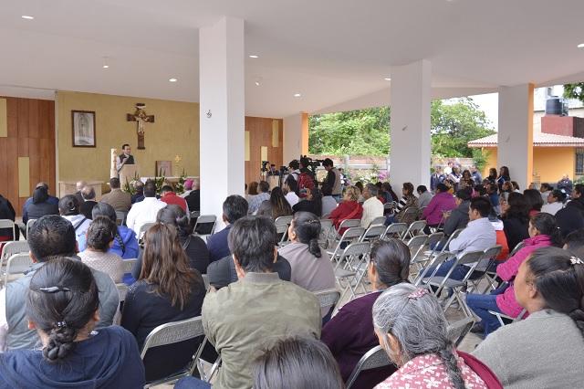 Entregan empresarios capilla en Atlixco tras daños por el 19S