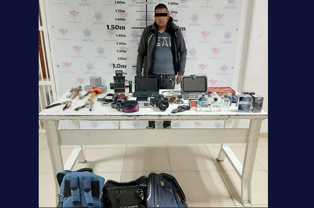 Capturan en Cuautlancingo a presunto asaltante de viviendas