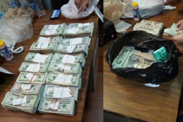 Capturan a un sujeto que llevaba 108 mil 500 dólares adheridos al cuerpo