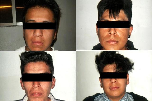 Detienen a 5 hombres por asalto a comercio en la Guadalupe Hidalgo