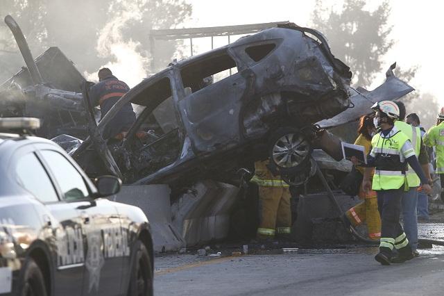 Suman 9 muertos por la carambola en la Puebla-Orizaba