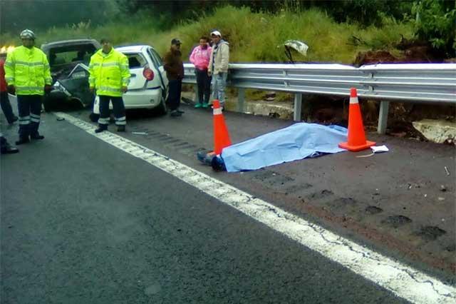 Un muerto y seis lesionados por carambola en la México Puebla