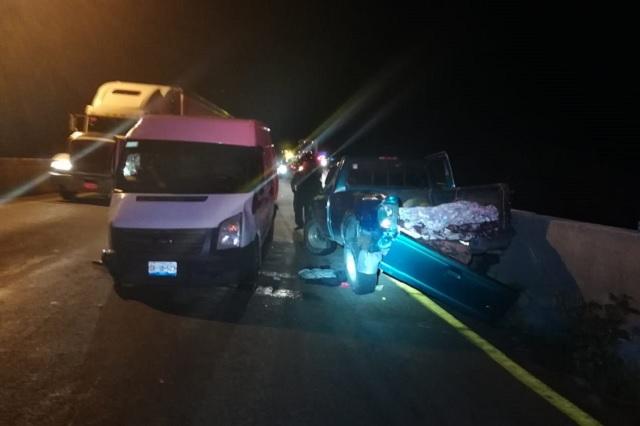 Cuatro muertos deja carambola en la Puebla-Orizaba