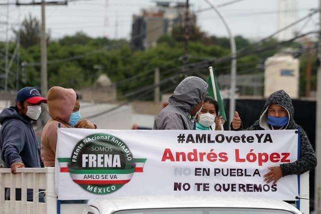 Arman cuarta caravana en Puebla contra gobierno de AMLO
