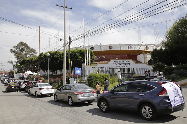 Pide caravana frenar prohibición de tauromaquia en Puebla
