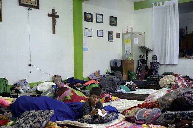 Puebla dio albergue a 15 menores de las caravanas de migrantes