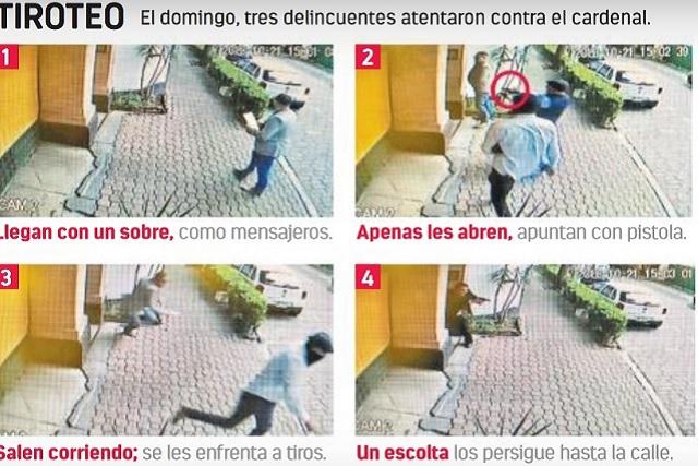 Filtran imágenes del ataque a la casa del cardenal Norberto Rivera