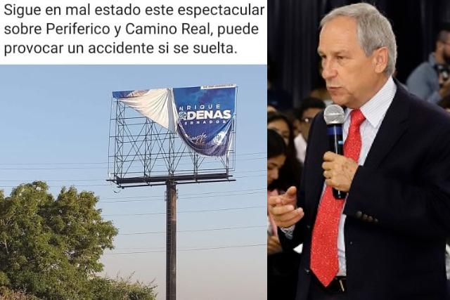 Denuncian vandalización de espectaculares de Cárdenas