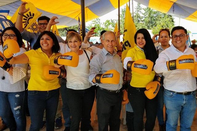 Publicidad móvil del PRD que promueve a Cárdenas infringe Coremun
