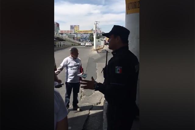 VIDEO: impiden a Cárdenas Sánchez recabar firmas de apoyo en la CAPU