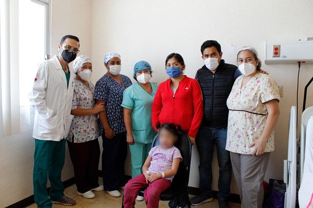 Exitosa operación cardiaca a niña de 5 años en el Issstep