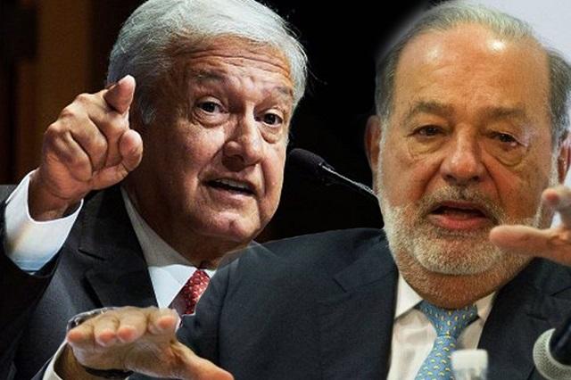 AMLO dice que Carlos Slim le envió una carta en la que lo felicita