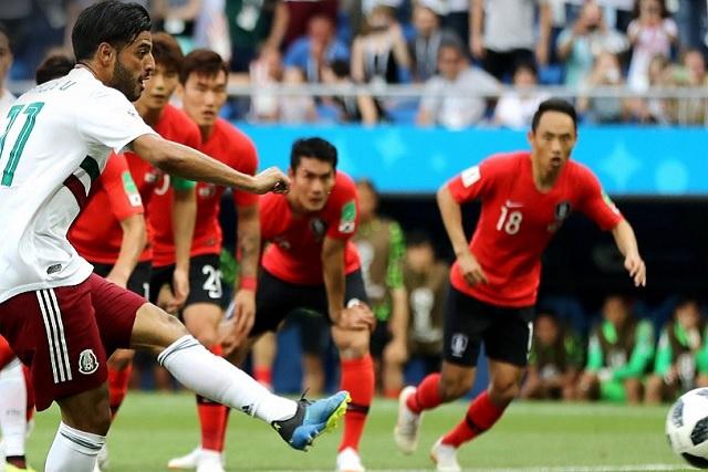 México vence a Corea al medio tiempo con gol de Carlos Vela