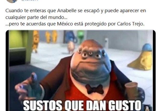 Anabelle escapó y memes se encomiendan a Carlos Trejo