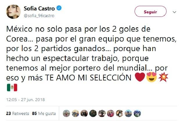Famosos festejan pase de México a los octavos de final pese a goleada
