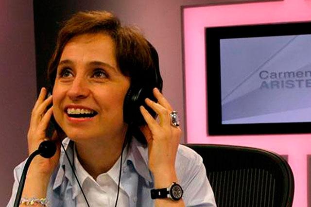 Anuncia Carmen Aristegui que construirá un nuevo espacio