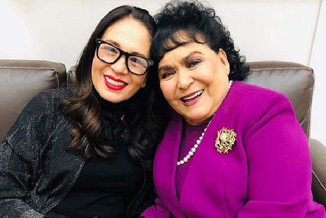 Carmen Salinas dice que Geraldine le reclamó por tomarse foto con Irina