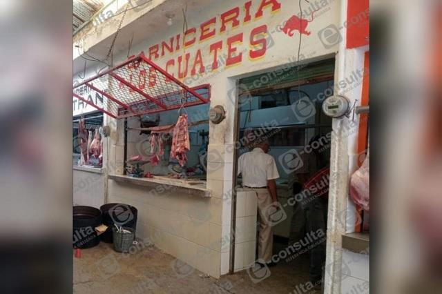 Ejecutan a carnicero en mercado de Francisco Z. Mena