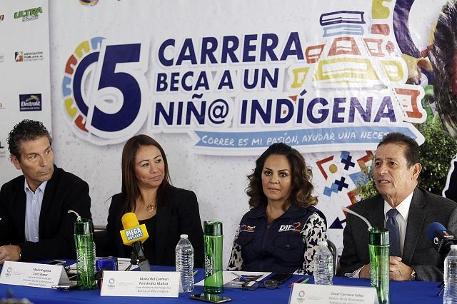 Anuncian carrera y donativos para becar a niños indígenas