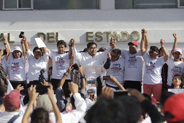 Alista Barbosa movilización estatal contra fraude en Puebla