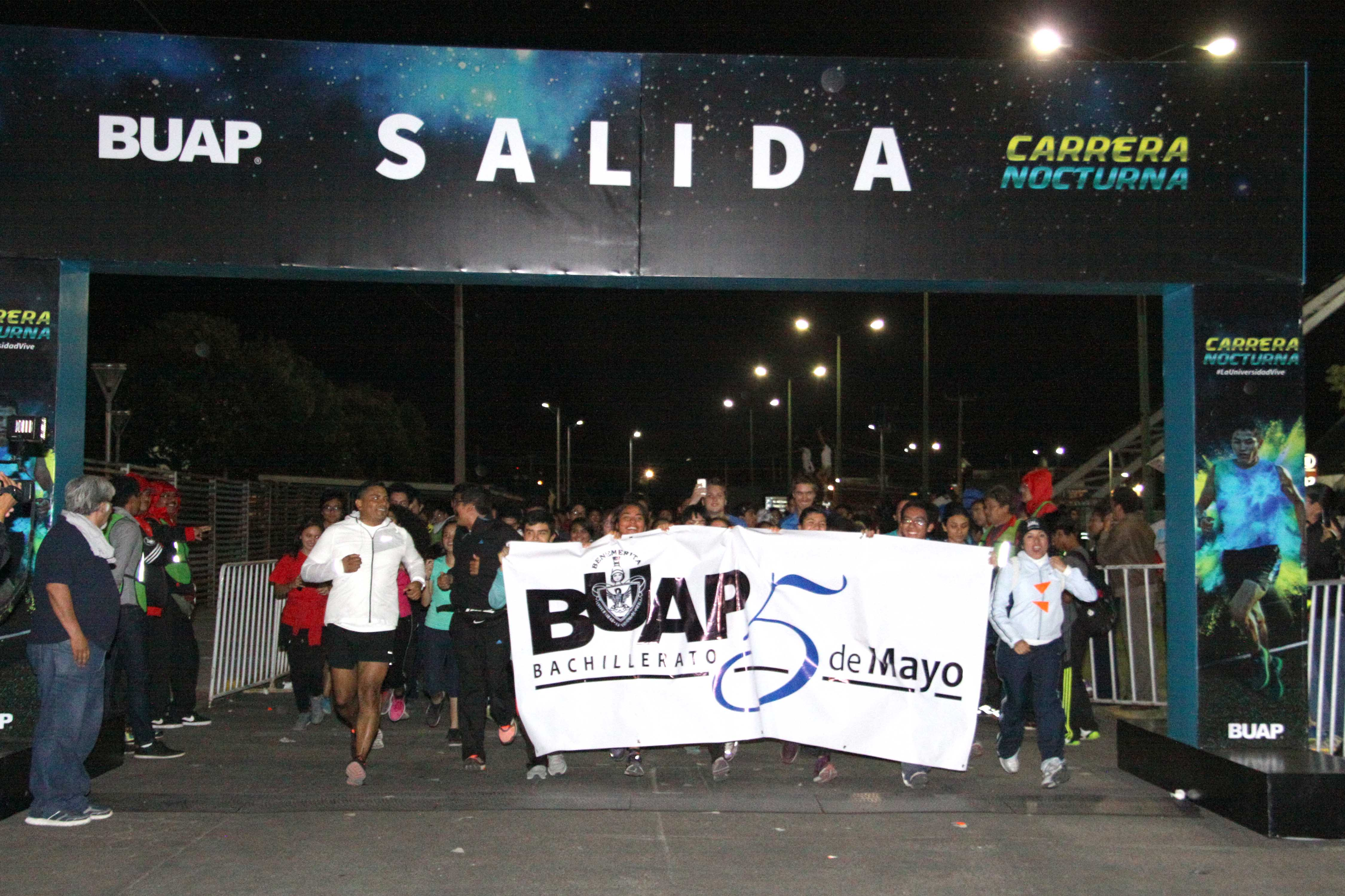 Más de 16 mil participantes en la Carrera Nocturna Universitaria BUAP
