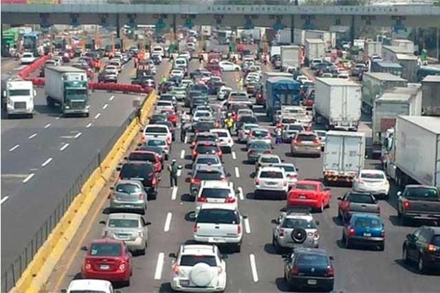 Por la México-Pachuca entran a la CDMX cada minuto 33 vehículos y salen 48
