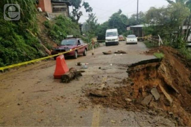 Siguen sin reparar carretera de la Sierra Negra que tumbó Grace