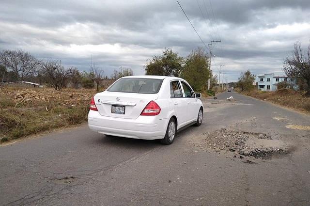 Alerta el mal estado de carreteras de San Nicolás de los Ranchos